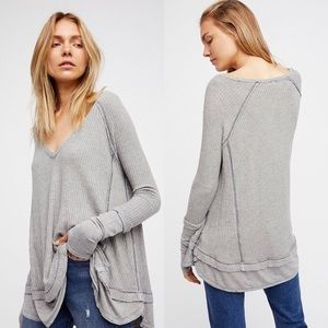 Waffle thermal sweater
